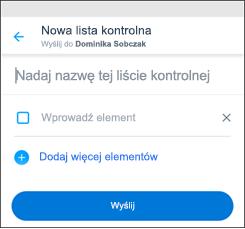 Lista kontrolna aplikacji kaizala