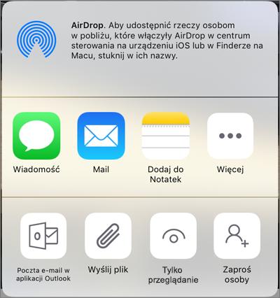Udostępnianie w usłudze OneDrive