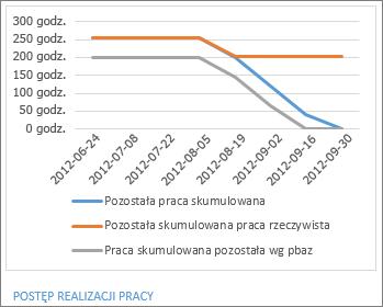 Raport dotyczący postępu realizacji pracy