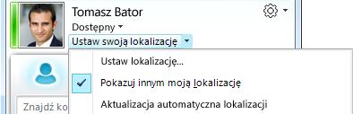 Ustawianie lokalizacji w programie Lync