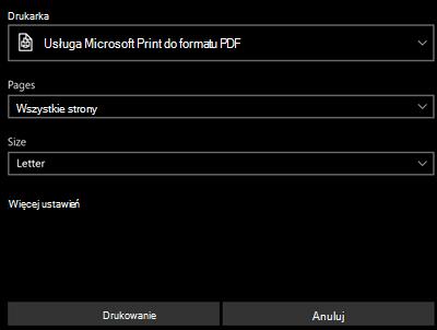 Drukowanie pliku PDF