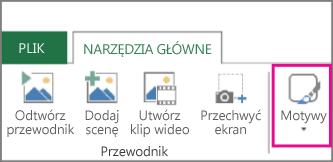 Przycisk Motywy na karcie Narzędzia główne dodatku Power Map