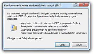 Konfigurowanie konta wiadomości SMS