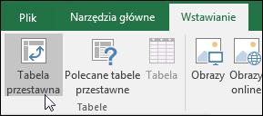 Przejdź do pozycji Wstawianie > Tabela przestawna, aby wstawić pustą tabelę przestawną