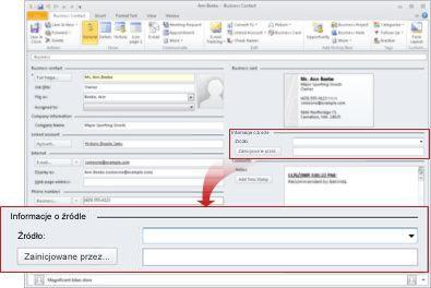 Przycisk Poczta e-mail bez dostępnych opcji