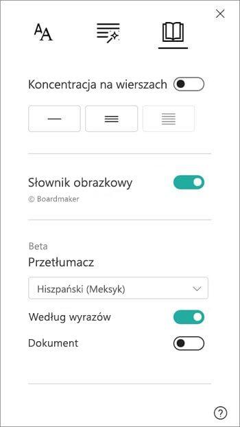 Tłumaczenie opcje można znaleźć w sekcji słownika obrazu.