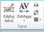 Grupa Tekst dotycząca tekstu WordArt w programie Publisher 2010