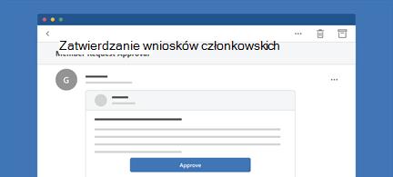 Wyświetla wiadomości programu Outlook