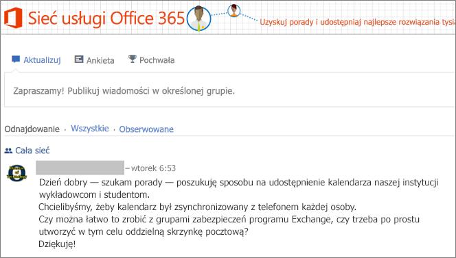 Strona główna sieci usługi Office 365