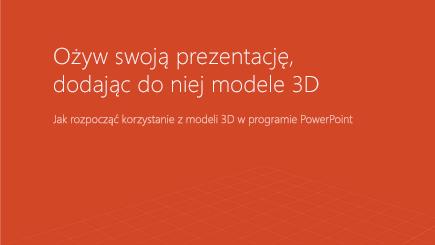 Zrzut ekranu przedstawiający okładkę szablonu 3D programu PowerPoint