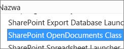 Włączanie kontrolki ActiveX SharePoint OpenDocuments Class