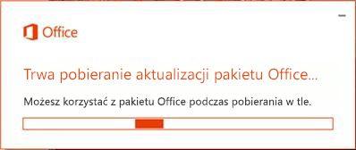 Pobieranie aktualizacji pakietu Office