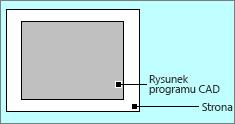 Rysunek programu AutoCAD w obrębie strony