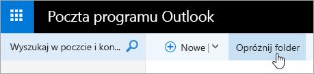 Zrzut ekranu przedstawiający przycisk Opróżnij Folder.