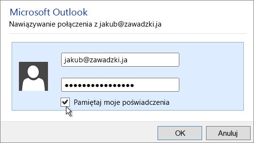 Wklej hasło aplikacji w polu Hasło.