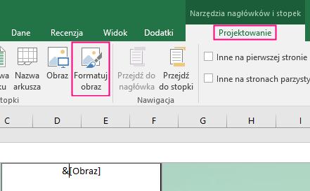 Formatowanie tła w programie Excel