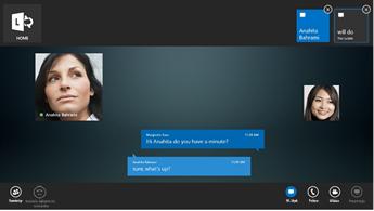 Zrzut ekranu z wiadomością błyskawiczną