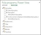Ukryta tabela i ukryte pola w programie Power View