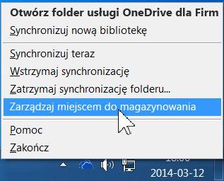 Zarządzanie miejscem w usłudze OneDrive dla Firm