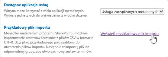 Wyświetl przykładowy plik importu