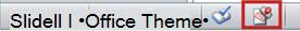 Ikona Oznacz jako wersja ostateczna na pasku stanu programu PowerPoint 2010.
