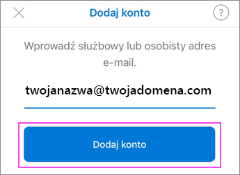Wprowadź adres e-mail