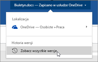 Kursor klikający nazwę pliku, Zobacz wszystkie wersje