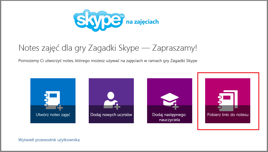 Pobieranie linków w aplikacji Mystery Skype
