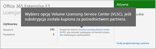 Link Centrum usługi licencjonowania zbiorowego (VLSC).