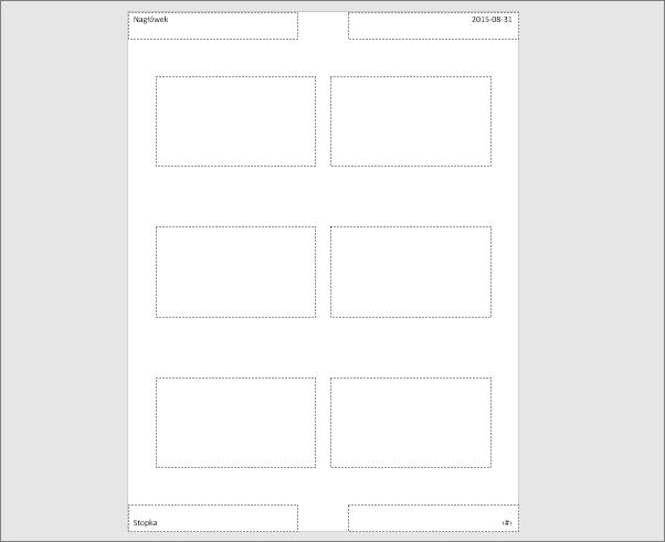 Pozycja Wzorzec materiałów informacyjnych w programie PowerPoint