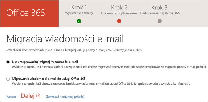 Migracja poczty e-mail