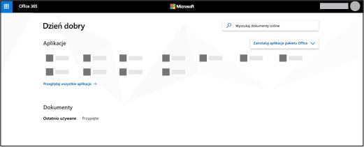 Strona główna usługi Office 365