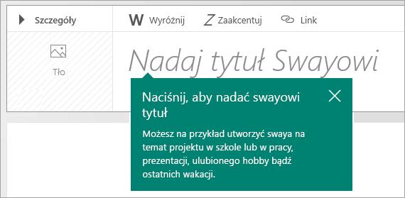 Monit o tytuł w scenariuszu w aplikacji Sway