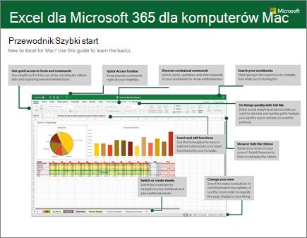 Przewodnik Szybki start dla programu Excel 2016 dlakomputerówMac
