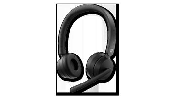 Zdjęcie urządzenia przedstawiające nowoczesny bezprzewodowy zestaw słuchawkowy