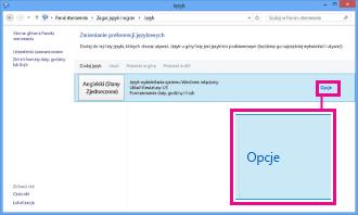 Dodawanie metody wprowadzania w Panelu sterowania w systemie Windows 8
