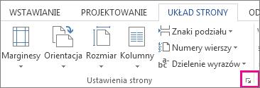 Przycisk służący do otwierania okna Ustawienia strony