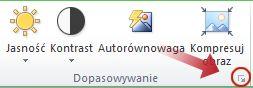 Przycisk uruchamiania okna dialogowego Formatowanie obrazu