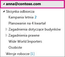 Konto programu Outlook