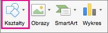 Kształty w programie PowerPoint dla komputerów Mac