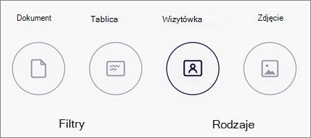 Opcje trybu dla zeskanowanych obrazów w aplikacji OneDrive dla systemu iOS