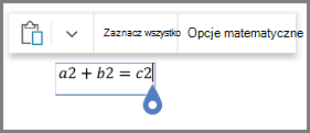 Opcjami matematycznych do równania