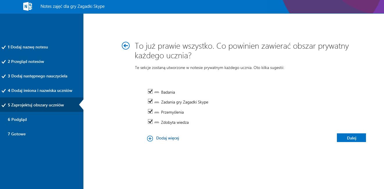 Projektowanie obszarów w aplikacji Mystery Skype