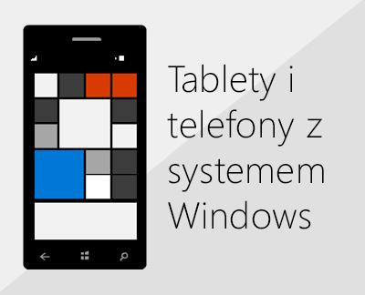 Kliknij w celu skonfigurowania pakietu Office i poczty e-mail na telefonach z systemem Windows