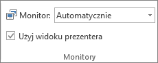Grupa Monitory na karcie Pokaz slajdów