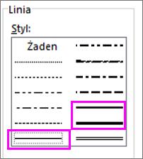 style linii