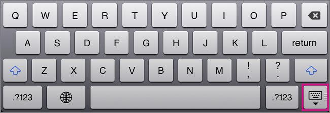 Ukrywanie klawiatury ekranowej