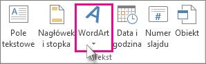 Kliknij, aby dodać tekst WordArt
