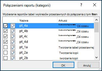 Połączenia raportu fragmentatora z narzędzi fragmentatora > opcje