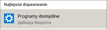 Programy domyślne w systemie Windows